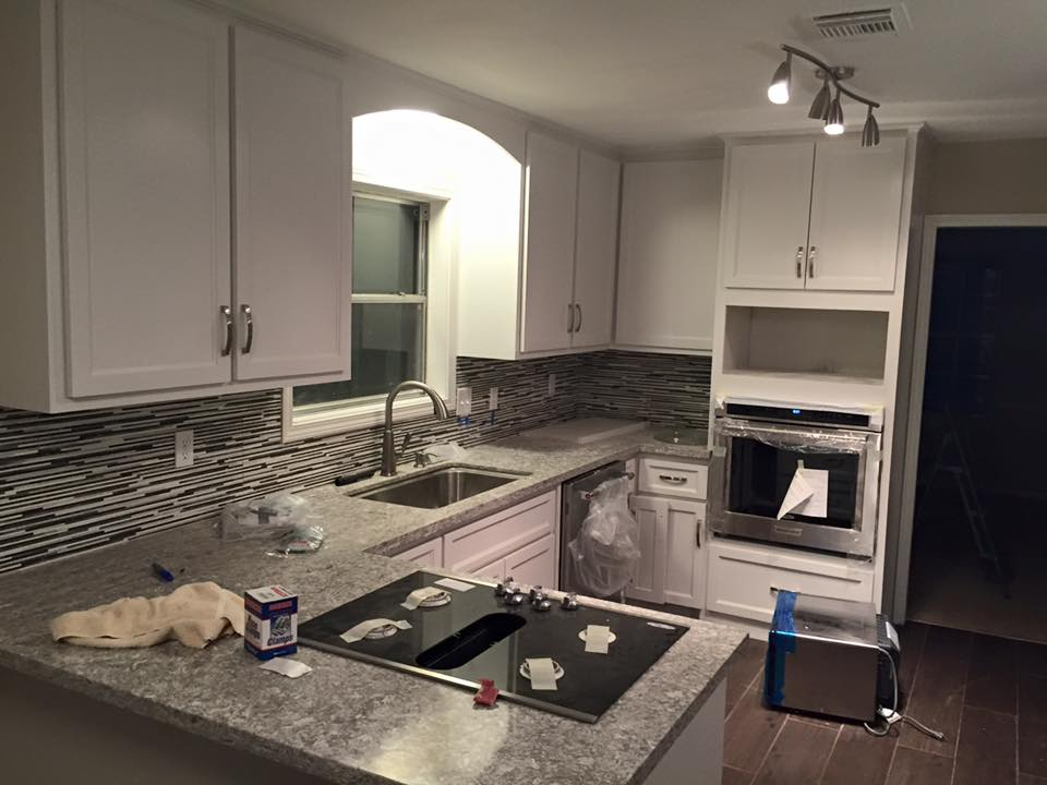 kitchen remodeling in process