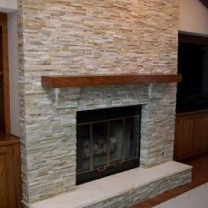 home remodel in Houston fire place