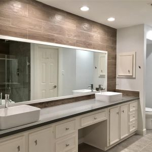 modern bathroom remodel in Houston